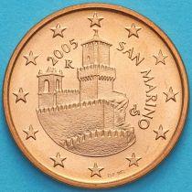 Сан Марино 5 евроцентов 2005 год.