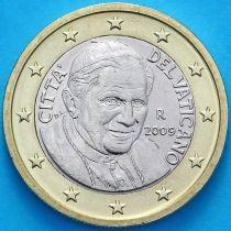Ватикан 1 евро 2009 год.