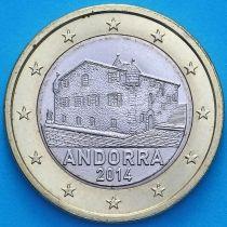 Андорра 1 евро 2014 год.