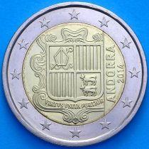 Андорра 2 евро 2014 год.