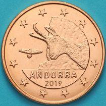 Андорра 5 евроцентов 2019 год.