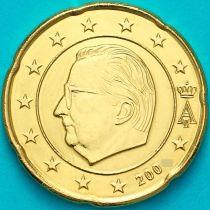 Бельгия 20 евроцентов 2002 год. (тип1) Редкий год