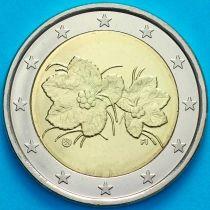 Финляндия 2 евро 2012 год.  Fi, Лев.На монете есть дата 2012