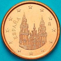 Испания 1 евроцент 2014 год. Тип 2.  На монете есть дата 2014