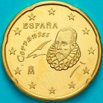 Испания 20 евроцентов 2016 год.  На монете есть дата 2016