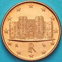 Италия 1 евроцент 2005 год.  На монете есть дата 2005