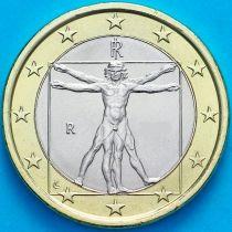 Италия 1 евро 2003 год.  На монете есть дата