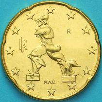 Италия 20 евроцентов 2016 год.  На монете есть дата 2016