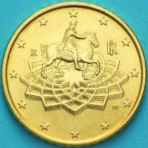 Италия 50 евроцентов 2018 год.  На монете есть дата 2018