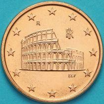 Италия 5 евроцентов 2015 год.  На монете есть дата 2015