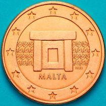 Мальта 1 евроцент 2016 год. На монете есть дата 2016
