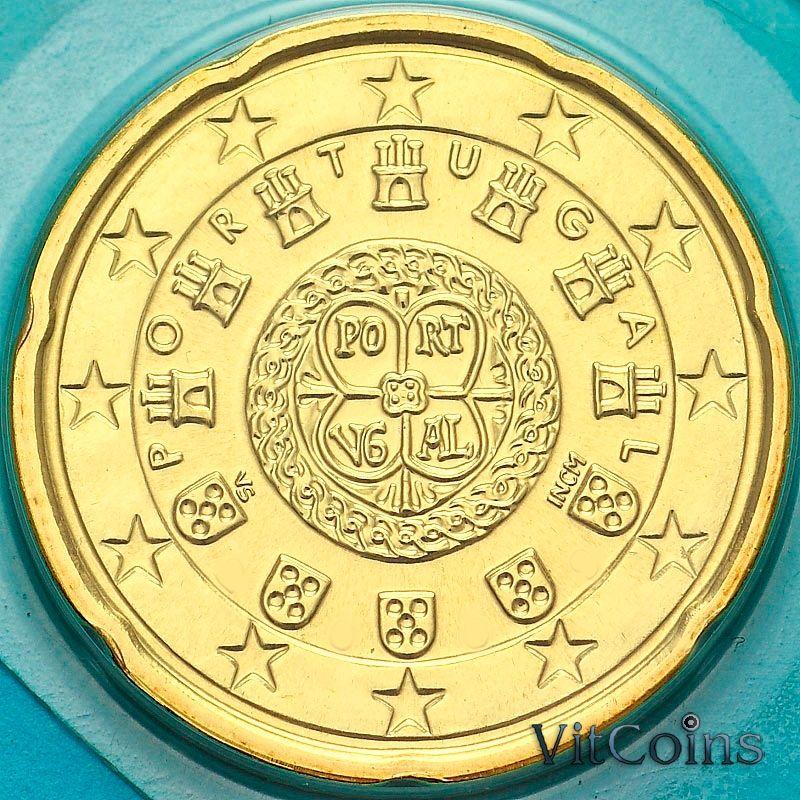 Монета Португалия 20 евроцентов 2008 год. Из набора.