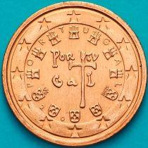 Португалия 1 евроцент 2006 год. На монете есть дата.