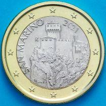 Сан Марино 1 евро 2021 год.