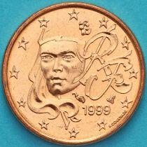 Франция 1 евроцент 1999 год.