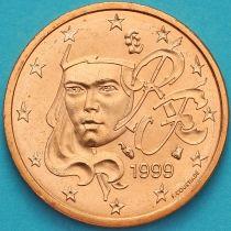 Франция 2 евроцента 1999 год.
