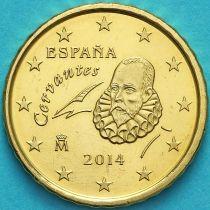 Испания 10 евроцентов 2014 год.