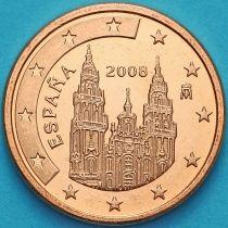 Испания 1 евроцент 2008 год.  Тип 1