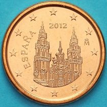 Испания 1 евроцент 2012 год. Тип 2