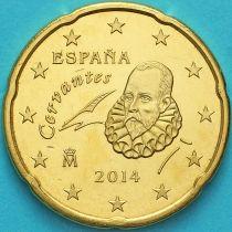 Испания 20 евроцентов 2014 год.