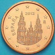 Испания 2 евроцента 2012 год. Тип 2