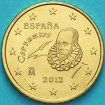 Испания 50 евроцентов 2012 год.