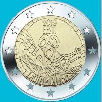 Эстония 2 евро 2019 год. 150 лет первому Эстонскому празднику песни