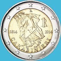 Италия 2 евро 2014 год. Карабинеры