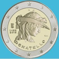 Италия 2 евро 2016 год. Донателло