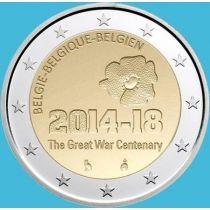 Бельгия 2 евро 2014 год. Первая Мировая война