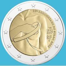 Франция 2 евро 2017 год. 25 лет Розовой ленте