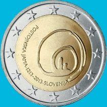 Словения 2 евро 2013 год. Пещеры Постойнска Яма