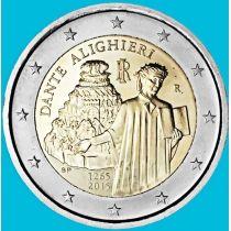 Италия 2 евро 2015 год. Данте Алигьери