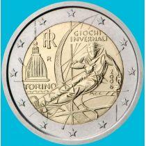 Италия 2 евро 2006 год.  Олимпийские Игры В Турине