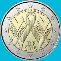Франция 2 евро 2014 год. Всемирный день борьбы со СПИДом