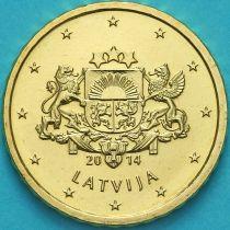 Латвия 10 евроцентов 2014 год.