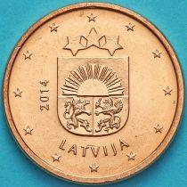 Латвия 1 евроцент 2014 год.