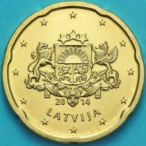Латвия 20 евроцентов 2014 год.