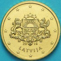 Латвия 50 евроцентов 2014 год.