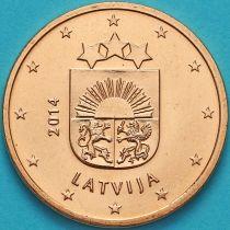 Латвия 5 евроцентов 2014 год.