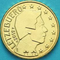 Люксембург 10 евроцентов 2019 год. Лев