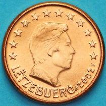 Люксембург 1 евроцент 2002 год.