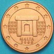 Мальта 2 евроцента 2008 год. F