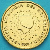 Нидерланды 20 евроцентов 2007 год. (тип 1)