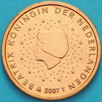 Нидерланды 2 евроцента 2007 год. (тип 1)
