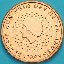 Нидерланды 5 евроцентов 2007 год. (тип 1)