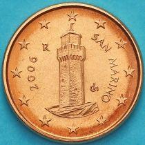 Сан Марино 1 евроцент 2006 год.