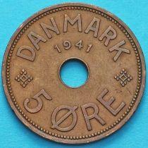 Фарерские острова 5 эре 1941 год. №1