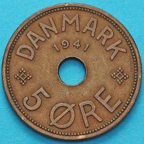 Фарерские острова 5 эре 1941 год. №2