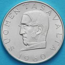 Финляндия 1000 марок 1960 год. 100 лет валютной системе. Серебро.